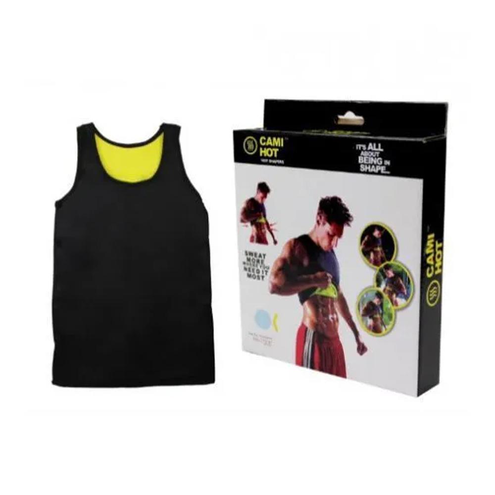 Camiseta Modeladora Masculina Cinta Redutora Térmica Shaper Regata Hot  - Mundo Thata