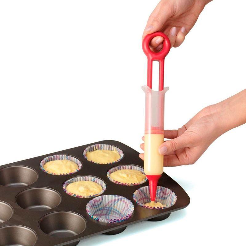 Caneta Decoradora CupCake 3 Bicos Pastry Pen  - Thata Esportes