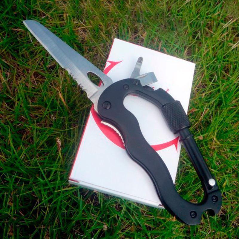 Canivete Mosquetão Multifuncional  - Thata Esportes