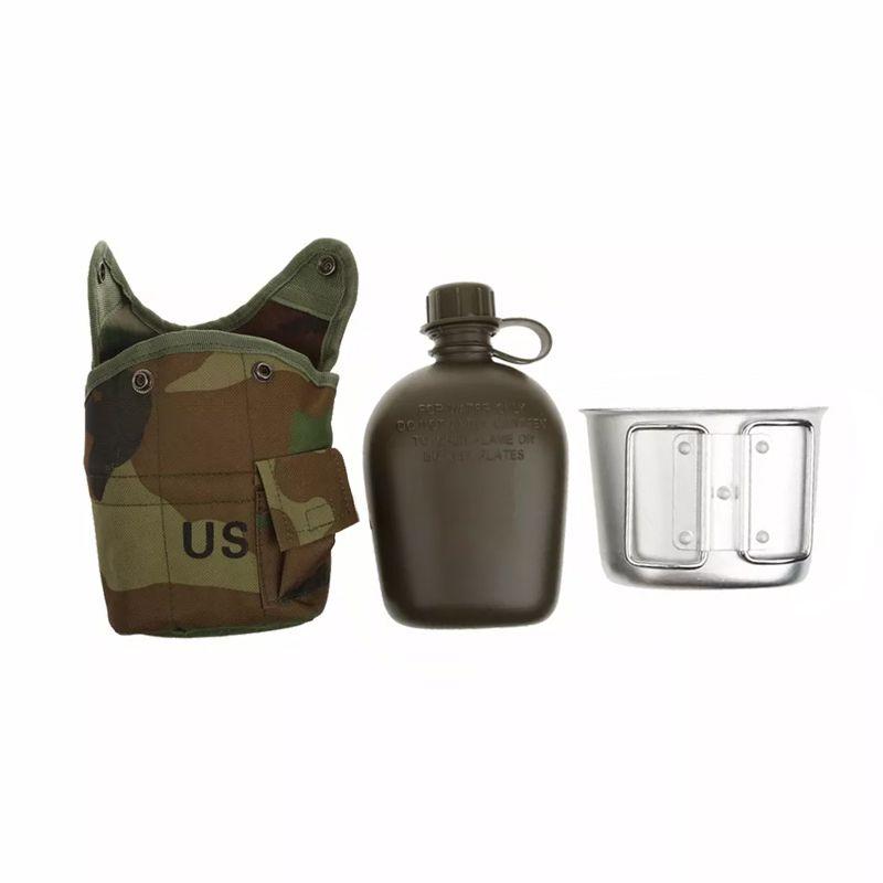 Cantil Militar Térmico 1 Litro Caneca de Alumínio  - Mundo Thata