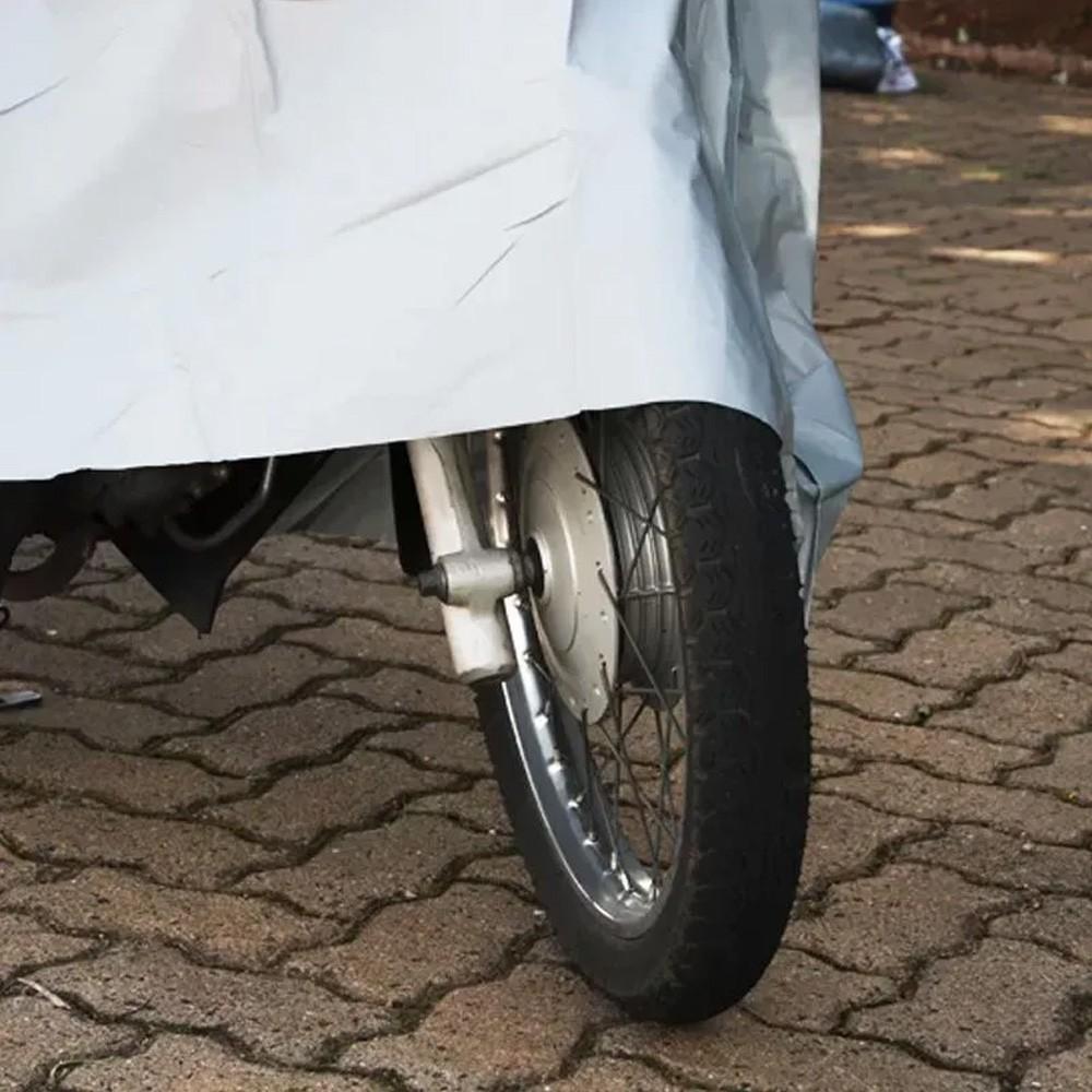Capa Protetora para Cobrir Motocicleta Moto Impermeável 2,1m X 1,2m  - Mundo Thata