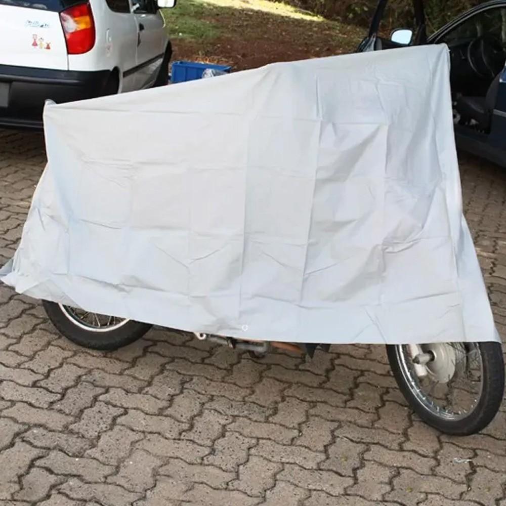 Capa Protetora para Cobrir Motocicleta Moto Impermeável 2,4m X 1,4m  - Mundo Thata