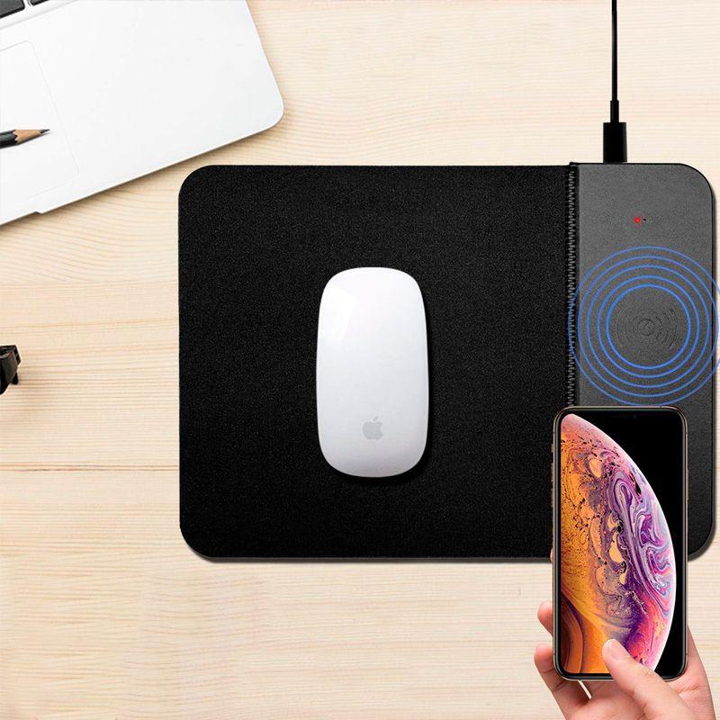 Carregador Por Indução Qi Mouse Pad Sem Fio Wireless 2 em 1  - Mundo Thata