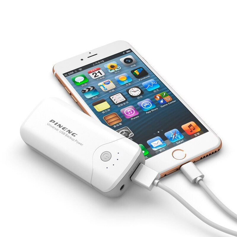 Carregador Portátil PowerBank  5000 Mah Pineng Android iOS com Lanterna  - Mundo Thata