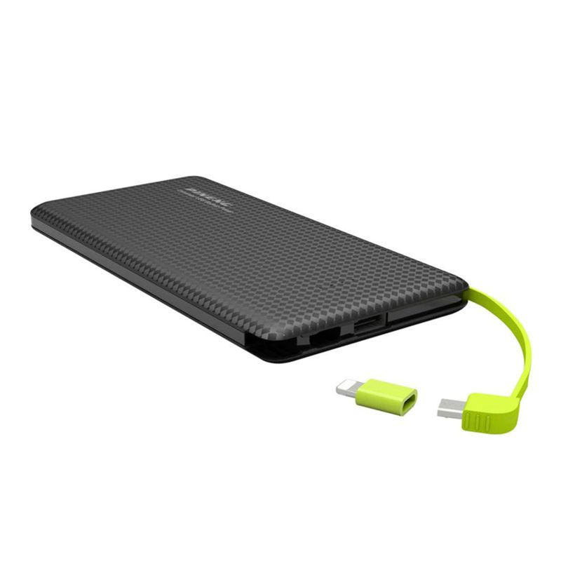 Carregador Portátil Powerbank 5000mAh Dual USB e Lightning Acionamento por Movimento 2  - Mundo Thata