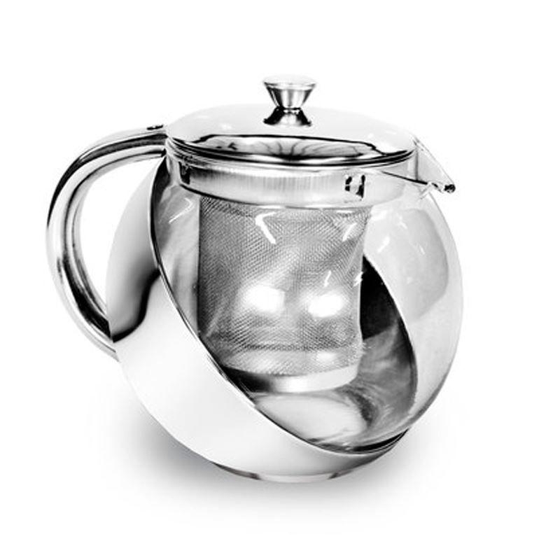 Chaleira de Infusão em Vidro e Inox 900 ml  - Thata Esportes