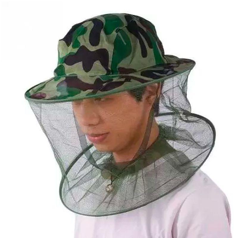 Chapéu Anti Mosquito Mosquiteiro Pernilongo Pesca Trilha Selva   - Mundo Thata
