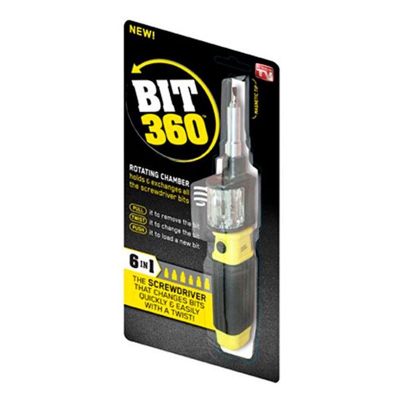 Chave de Fenda Rotativa com 6 Pontas Magnéticas Bit 360 Screwdriver  - Thata Esportes