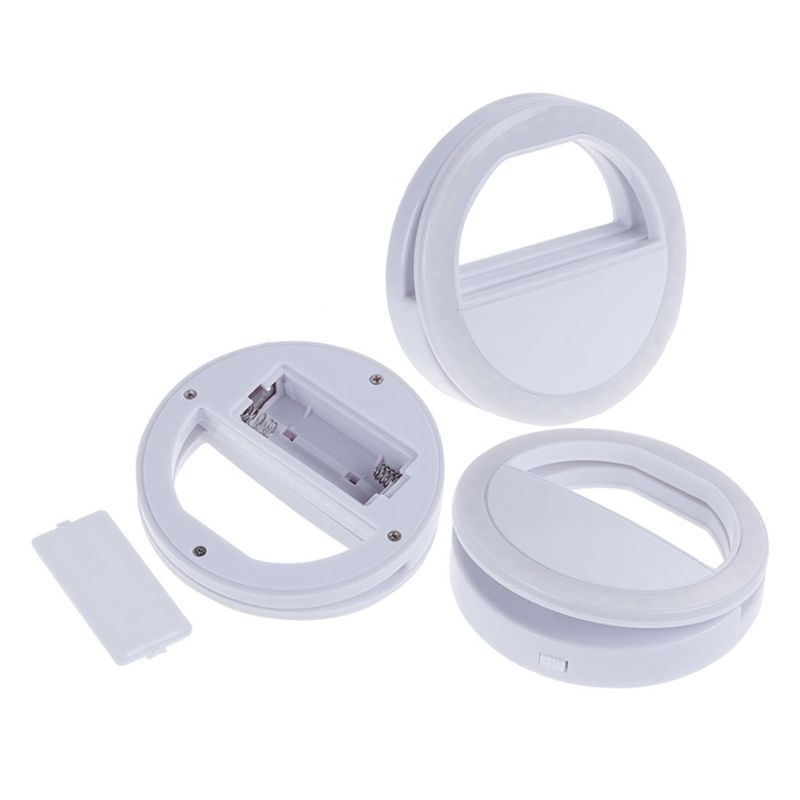 Clipe LED Ring Light para Selfie Smartphone Celular Tablet Notebook 3 Níveis  - Mundo Thata