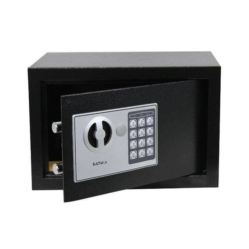 Cofre Digital Eletrônico Aço Carbono Senha Chave Guarda Dinheiro Jóias Documentos KS-20EW 35x20x20cm Batiki  - Mundo Thata