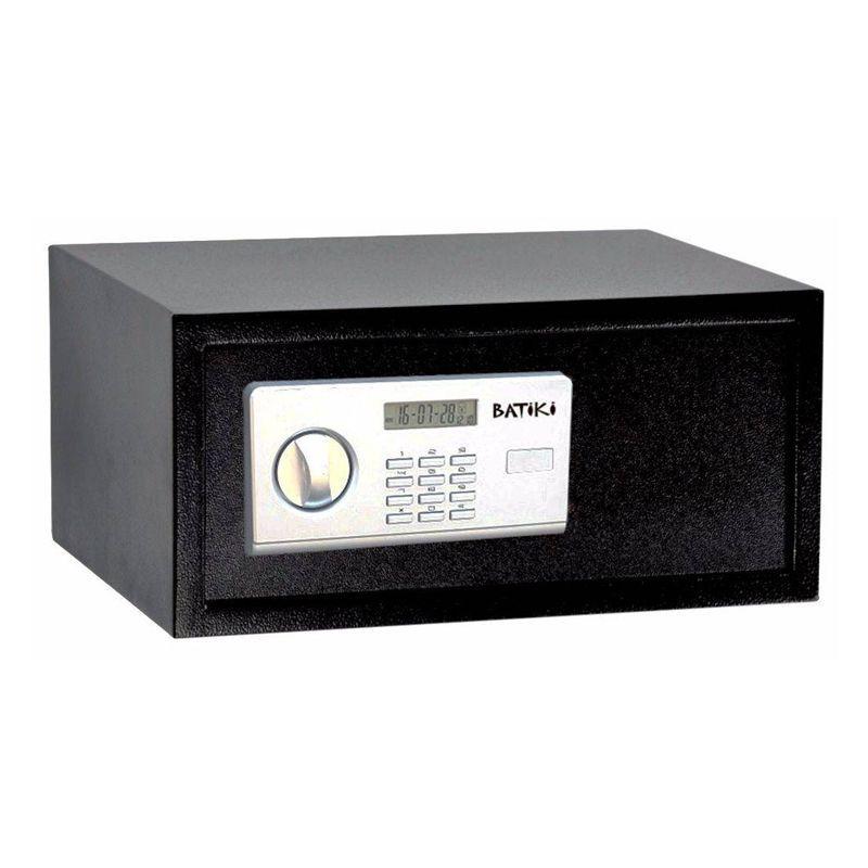 Cofre Digital Eletrônico Aço Carbono Senha Chave Guarda Dinheiro Jóias Documentos S200GF 35x43x20cm Batiki  - Thata Esportes