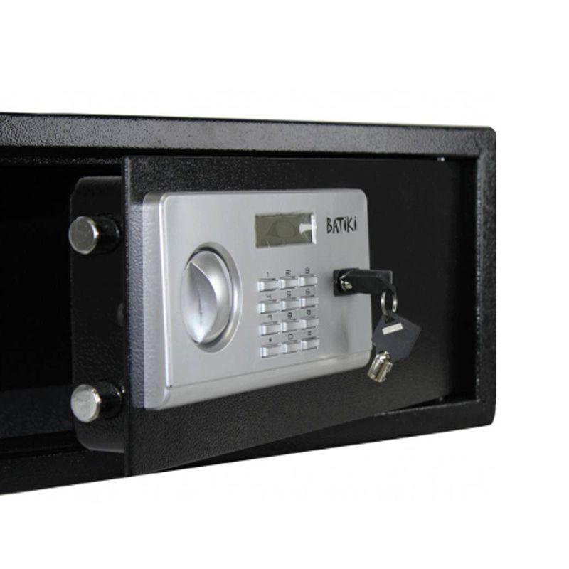 Cofre Digital Eletrônico Aço Carbono Senha Chave Guarda Arma Dinheiro Jóias Documentos S200GF 35x43x20cm Batiki  - Thata Esportes