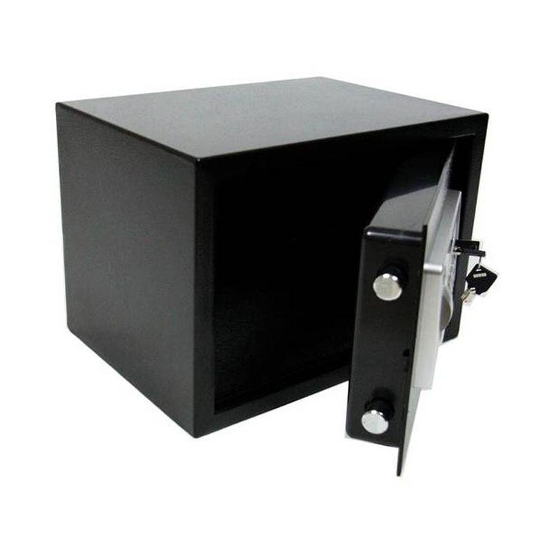 Cofre Digital Eletrônico Aço Carbono Senha Chave Guarda Dinheiro Jóias Documentos S25GF 25x35x25cm Batiki  - Thata Esportes