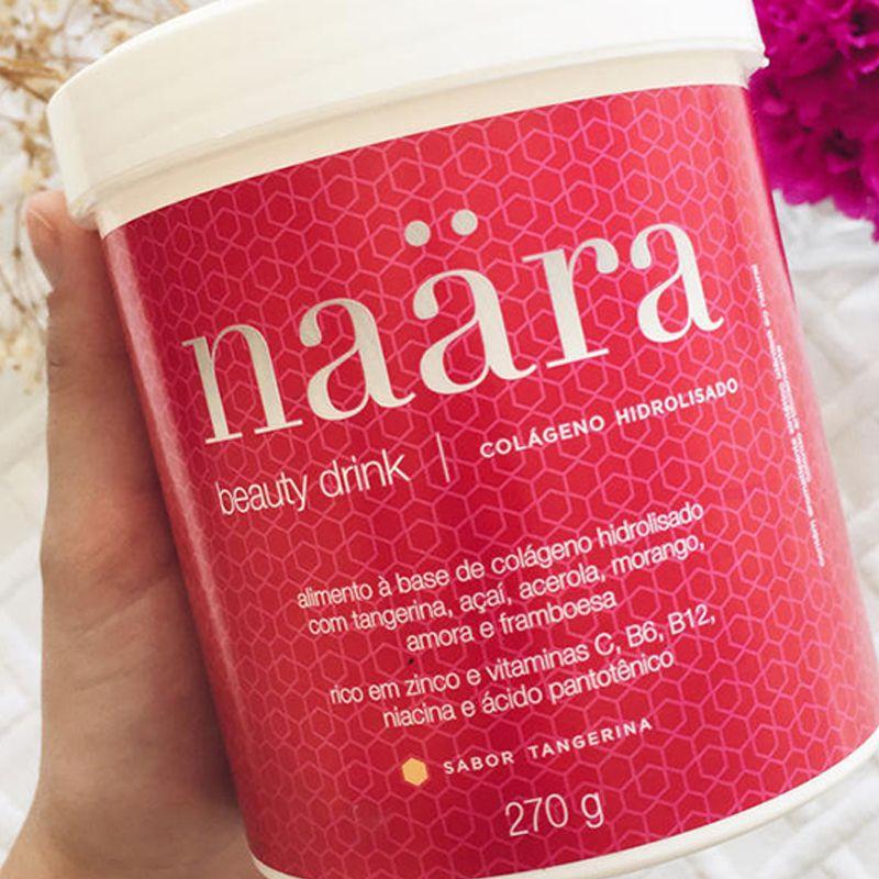 Colágeno Hidrolisado Naara Beauty Drink Sabor Tangerina 270 g  - Thata Esportes
