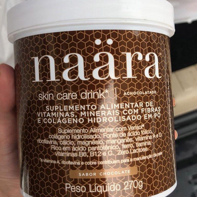 Colágeno Hidrolisado Naära Skin Care Drink Achocolatado 270 g  - Thata Esportes