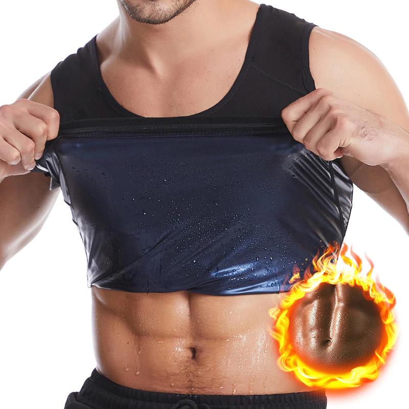 Colete Camiseta Regata Redutor de Medidas Para Homem Emagrecimento Rápido Preto  - Mundo Thata