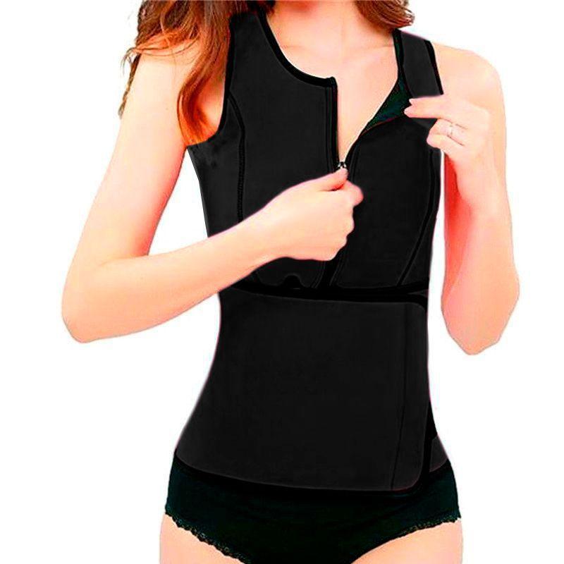 Colete cinta modelador Regata Redutor de Medida Ajuste Cintura Hot Shapers   - Thata Esportes