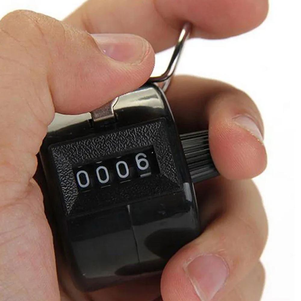 Contador Manual Numérico 4 Dígitos Passos Pessoas Produtos  - Mundo Thata