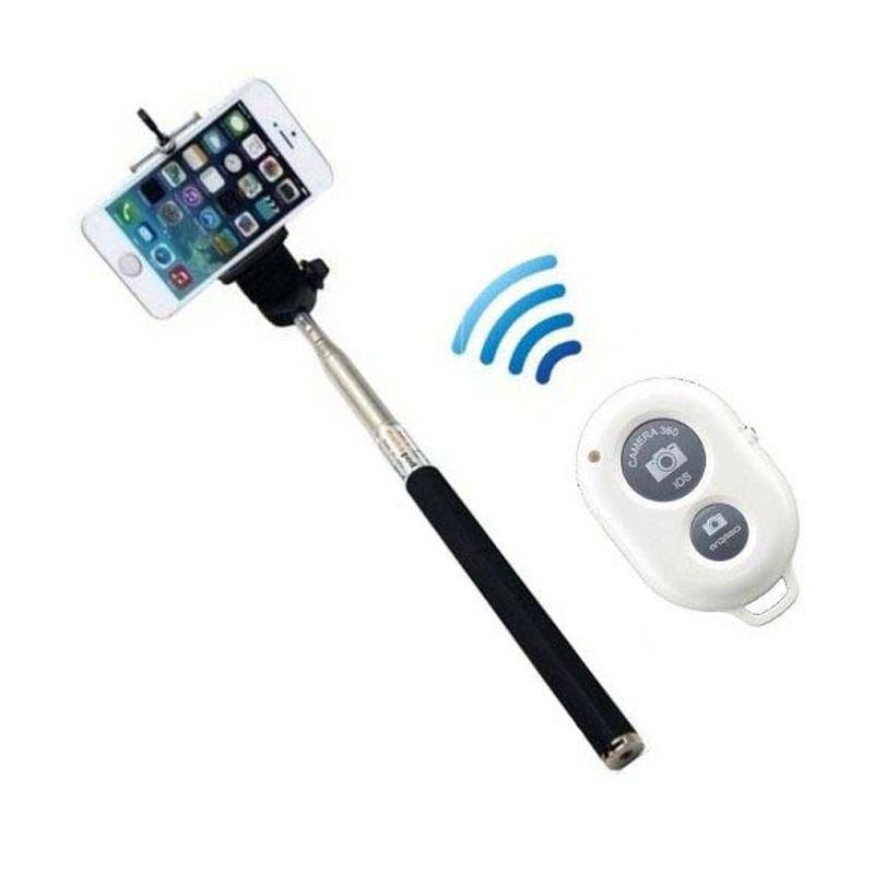 Monopod Bluetooth com Controle Remoto Bluetooth e Adaptador Celular Go Pro  - Thata Esportes