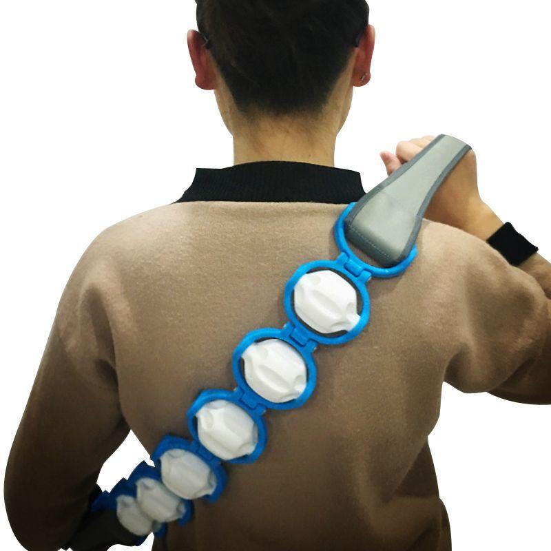 Corda Cinta Massageadora 6 Rolos Pernas Cordas Pescoço Barriga  - Thata Esportes