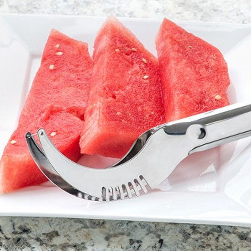 Cortador e Fatiador de Frutas em Aço Inox – Melância Mamão Melão  - Thata Esportes