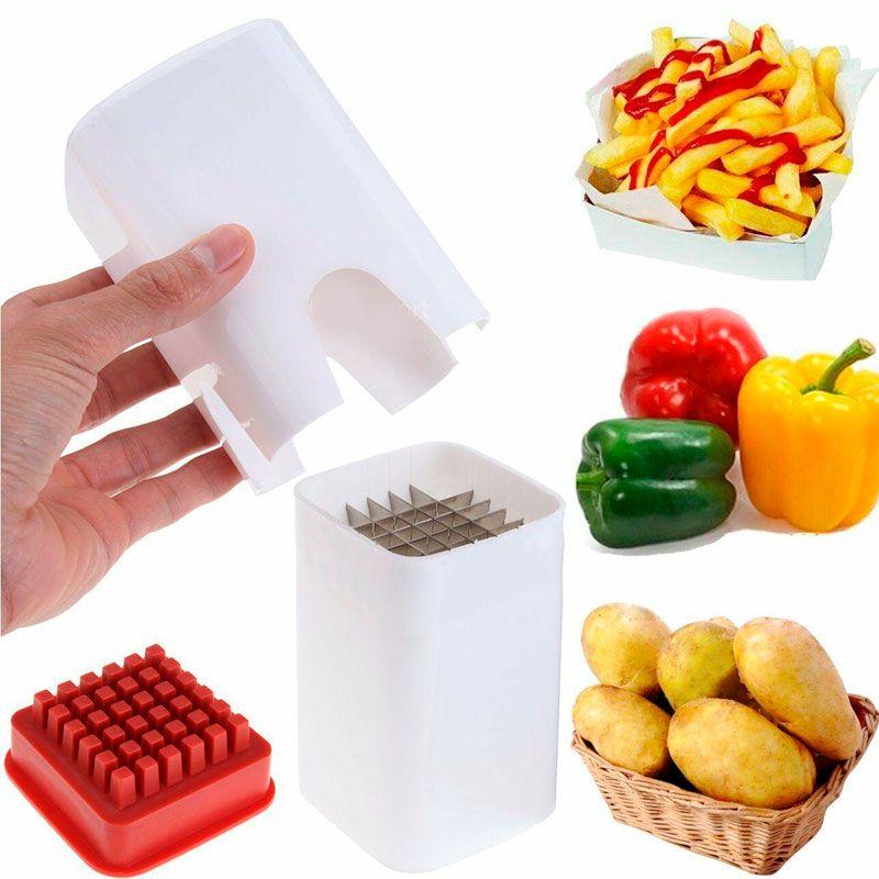 Cortador Fatiador de Legumes Batata Palito Manual Culinária  - Mundo Thata