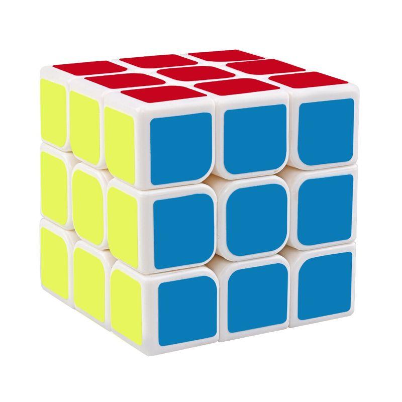Cubo Mágico Colorido 3x3x3 Bordas Arredondadas Branco  - Mundo Thata