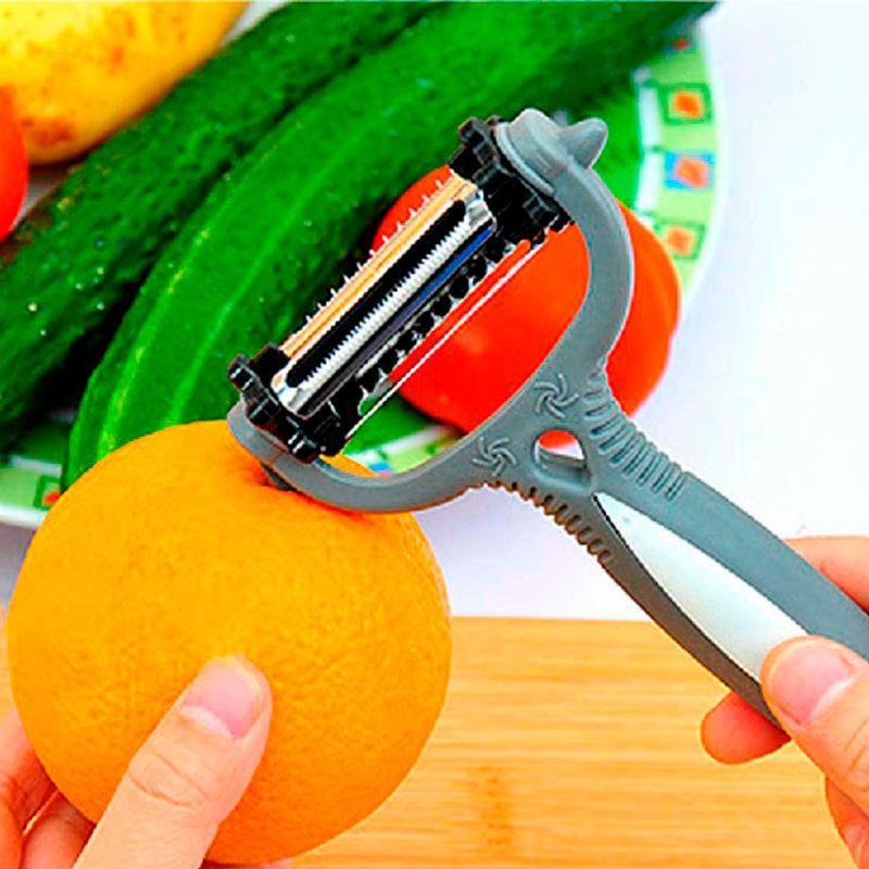 Descascador de Legumes e Frutas 3 em 1 Magic Peeler  - Thata Esportes