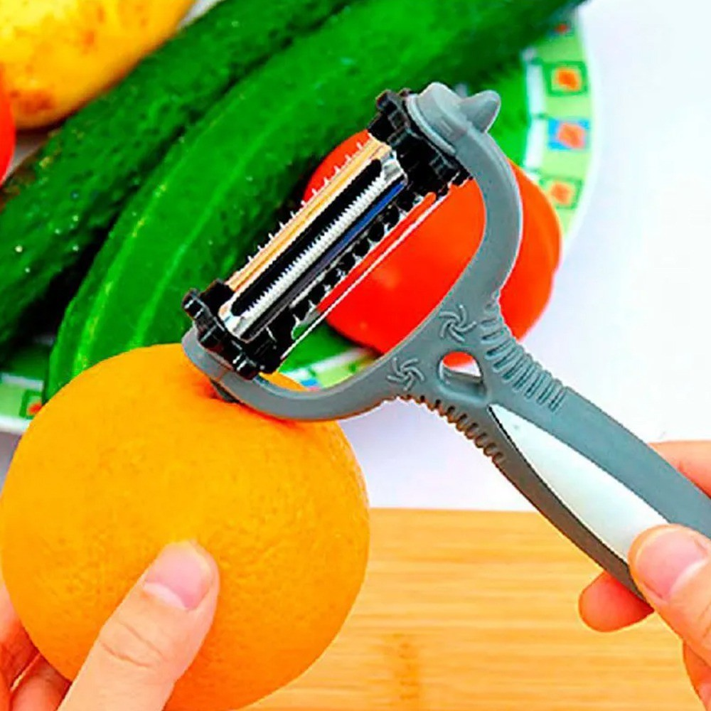 Descascador de Legumes e Frutas 3 em 1 Magic Peeler  - Mundo Thata