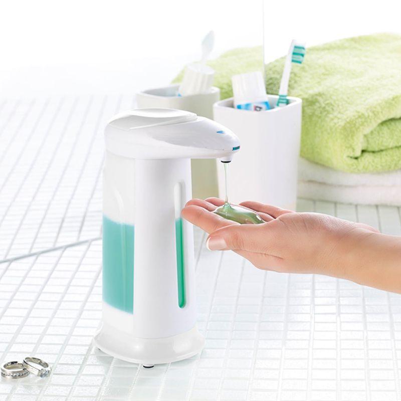 Dispenser Sensor Automático de Sabonete Líquido Detergente Sabão 330 ml  - Mundo Thata