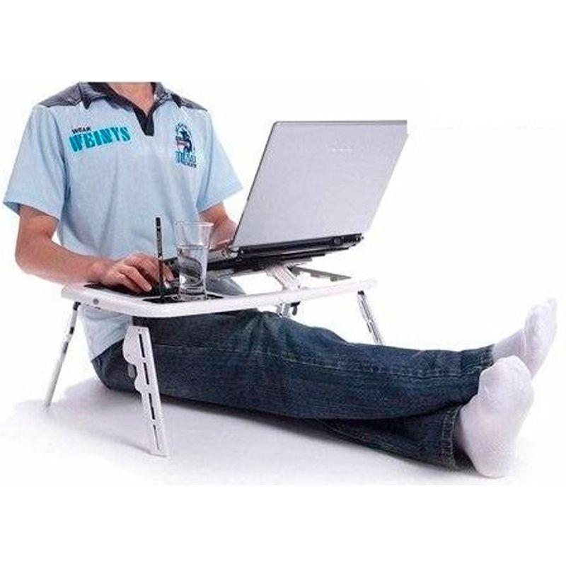 E-Table Mesa Ergonômica Portátil Ajustável para Notebook   - Thata Esportes
