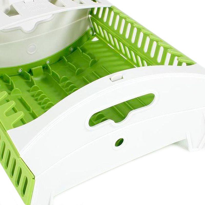 Escorredor de Louça Pratos Copos Dobrável Plástico  - Mundo Thata