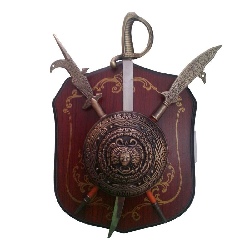Escudo Medieval Brasão com Suporte de Parede   - Thata Esportes