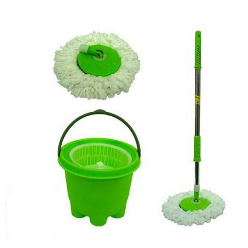 Esfregão Verde Mop com Balde e Refil Reserva  - Mundo Thata