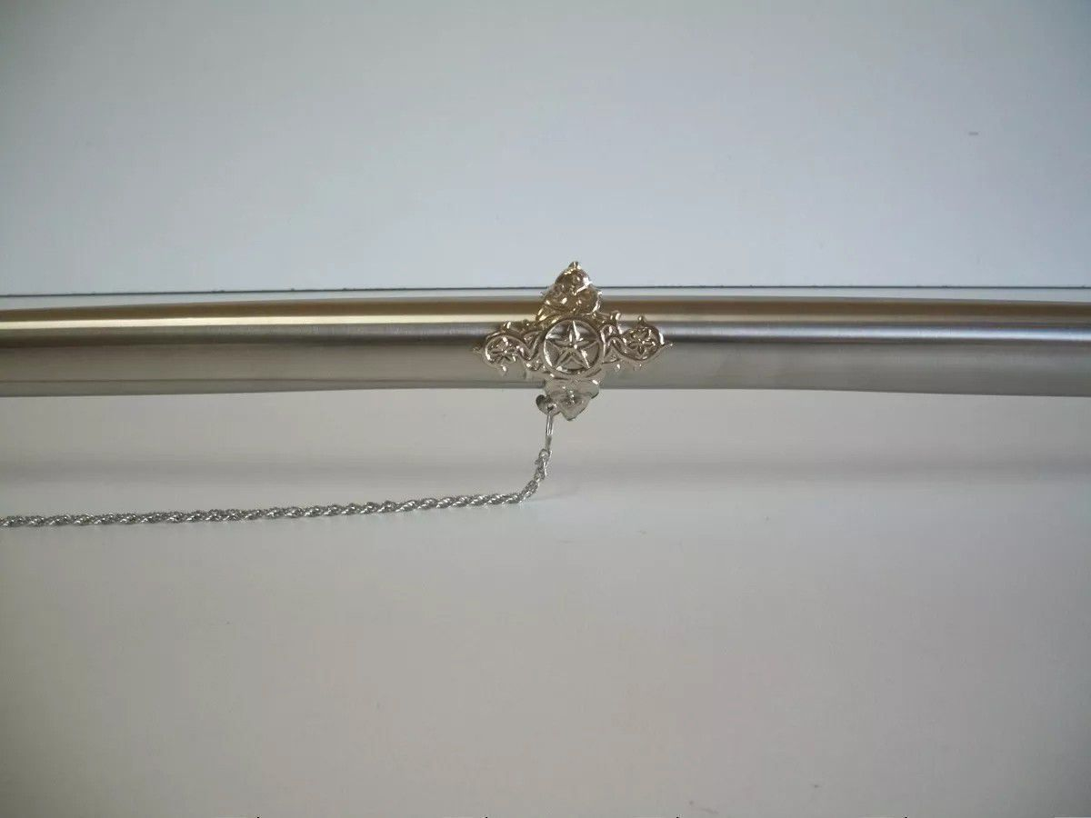 Espada Decorativa Empunhadura de Sabre Cromado  - Thata Esportes