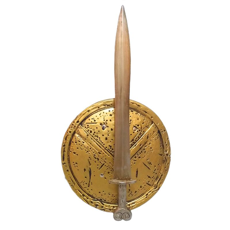Espada e Escudo de Espuma Decoração Filme 300 Esparta Cosplay  - Mundo Thata