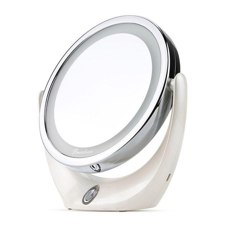 Espelho Maquiagem Makeup LED Ampliação 5X Rotação 360 Graus Carregamento USB  - Mundo Thata