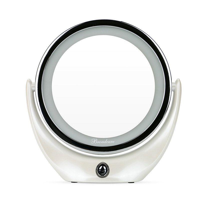 Espelho Maquiagem Makeup LED Ampliação 5X Rotação 360 Graus Carregamento USB  - Thata Esportes