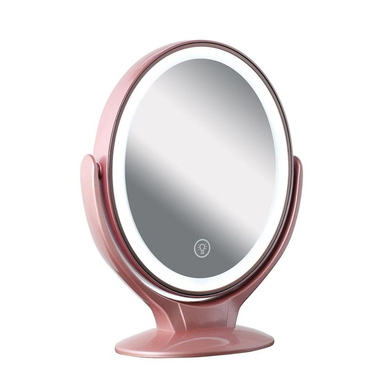 Espelho Maquiagem Makeup LED Ampliação 7X Rotação 360 Graus 3 Níveis de Luz  - Mundo Thata