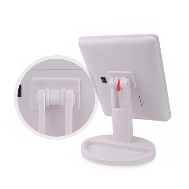 Espelho para Maquiagem Ajustável com Luzes LED  - Thata Esportes