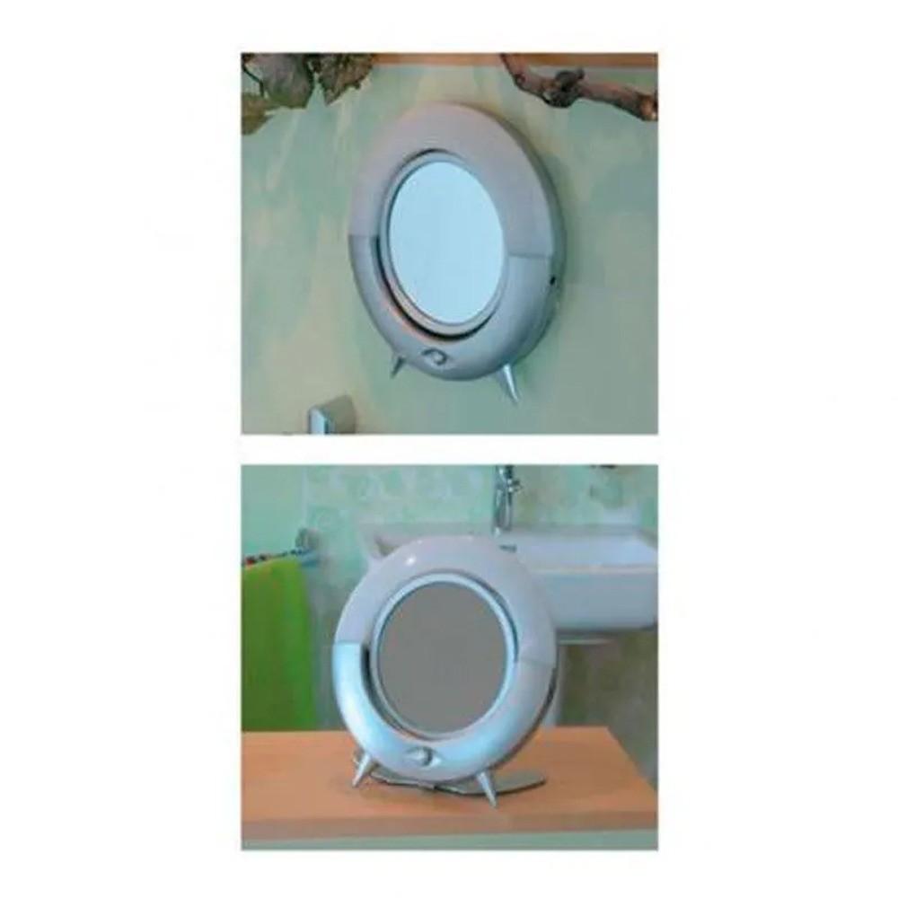 Espelho Redondo de Mesa Iluminado LED Zoom 2X Maquiagem Makeup  - Mundo Thata