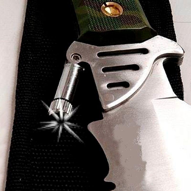 Faca Rambo Camuflada com Lanterna Bussola e Bainha  - Thata Esportes
