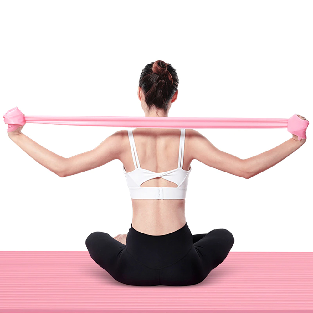 Faixa Elástica Resistente Para Treino Alongamentos Exercícios Fisioterapia Academia e Yoga  - Mundo Thata
