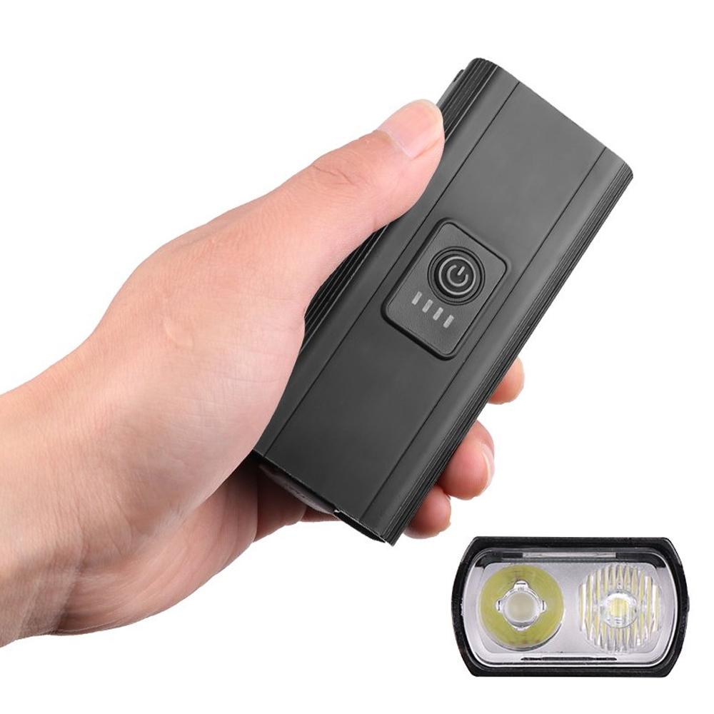 Farol Lanterna para Bike Bicicleta 6 Modos com Função Carregador Portátil USB À Prova D
