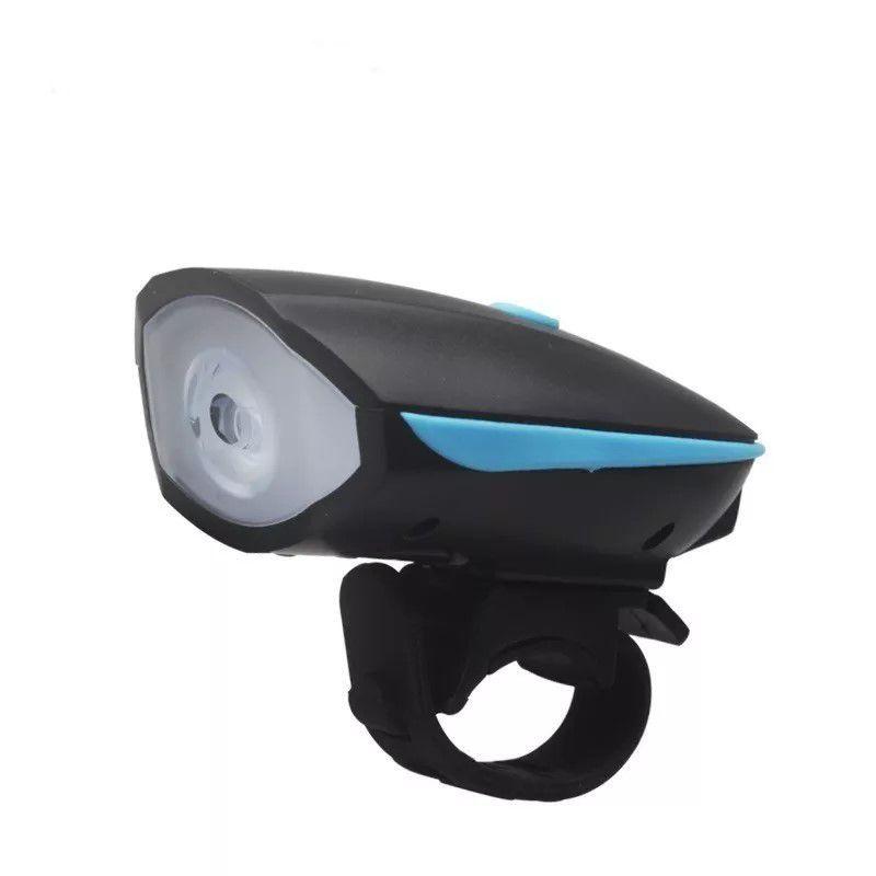 Farol LED com Buzina para Bicicleta Funcionamento À Pilha  - Mundo Thata