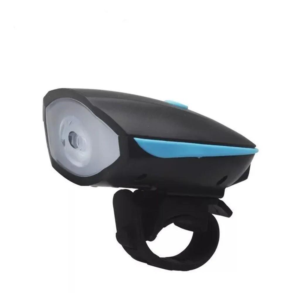 Farol LED com Buzina para Bicicleta Recarregável USB  - Mundo Thata