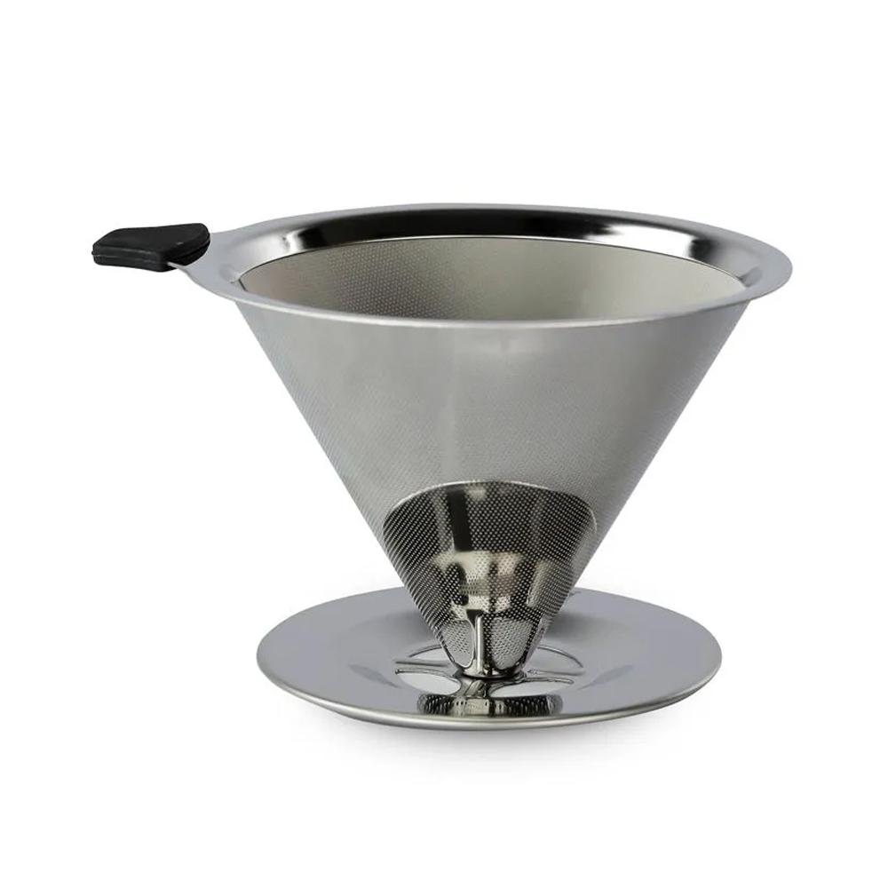 Filtro de Café Aço Coador Inox Reutilizável Permanente Ecológico  - Mundo Thata