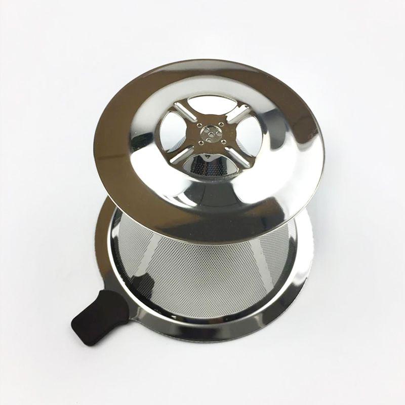 Filtro de Café Aço Coador Inox Reutilizável Permanente Ecológico Pequeno  - Mundo Thata