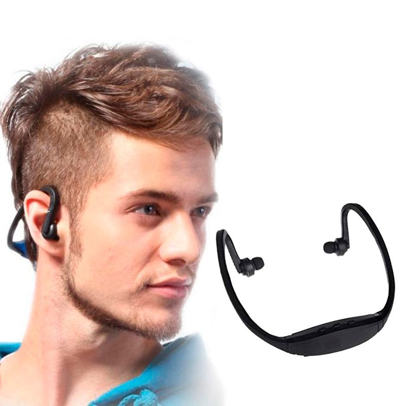 Fone de Ouvido Auricular Sport Bluetooth Cartão SD Wireless  - Thata Esportes