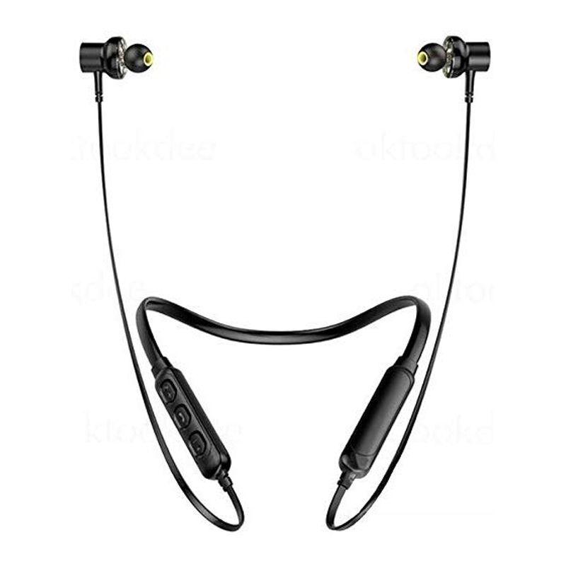 Fone de Ouvido Bluetooth Sem Fio Magnético Esportivo Botões Volume Microfone Carregamento USB  - Mundo Thata